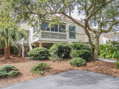 Photo for Villa w/ screened porch, ocean views, just across the street from the beach!