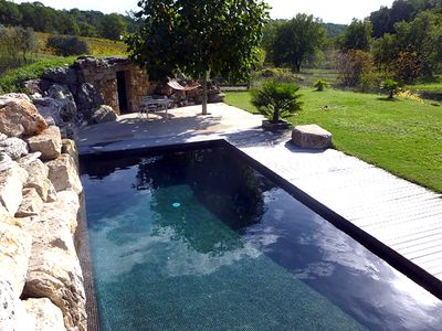 Photo for Villa with swimming pool in a vineyard of Provence