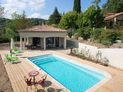 Photo for House three parental suites. Private pool. 25 Kms Cannes / Grasse / Frejus