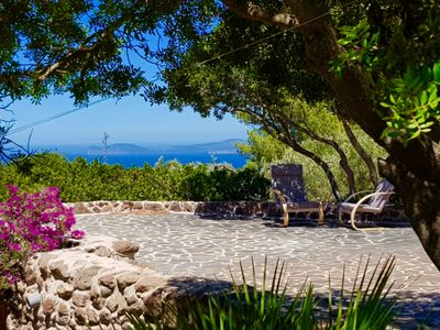 Photo for Alghero Villa Sunset with stunning sea view for 9 people with Air Co and WiFi