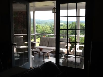 view from the enclosed porch