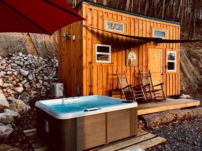 Photo for Shiner Shack Cabin. A Rustic Experience In A Great Location with private HotTub!