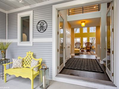 Photo for Lake Michigan Beach House Meets Riviera Flair—Just 4 Minutes To The Beach!