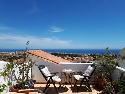 Photo for Spectacular Penthouse Apt with Private Roof Terrace Panoramic Sea Views Wifi AC
