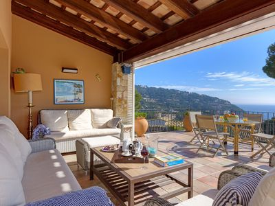 Photo for AMARELLA-villa with sea views-Llafranc-Costa Brava