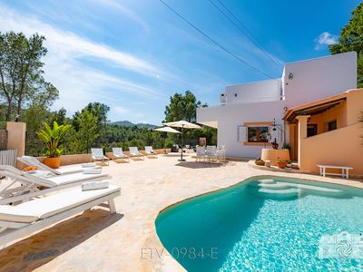 Photo for An Ibicencan Villa nearby 2 beaches, with a harmonious 100,000m² Garden of Eden