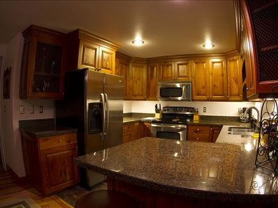 Kitchen includes stainless steel appliances