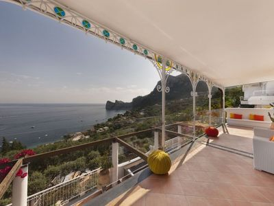 Photo for Marina del Cantone Villa, Sleeps 8 with Pool, Air Con and WiFi