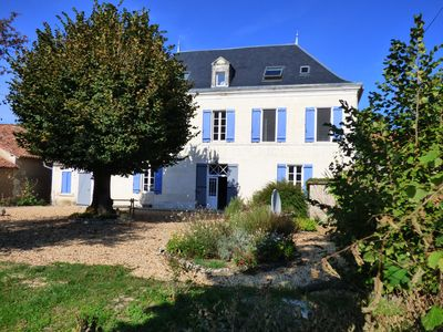 Photo for 8 ensuite bedroom Manor house in 7 acres with river access, 2km from Aubeterre