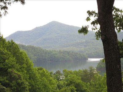 Hiwassee Lake and Blue Ridge Mountains view from porch
