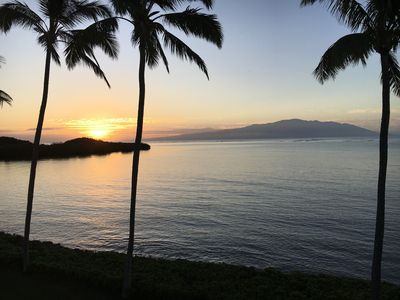 View at sunrise from the lanai.