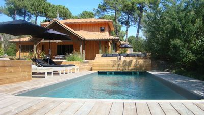 Photo for Lège Cap Ferret - Wood Villa with Pool Heated Comfort