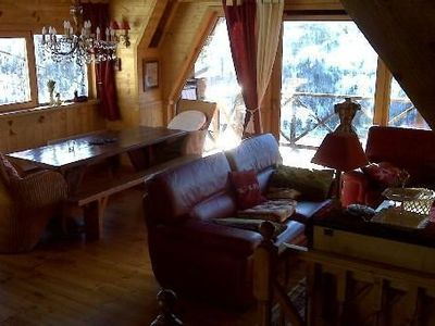 Photo for Beautiful new ski chalet, pano view, 2-9 persons, 5 min tracks