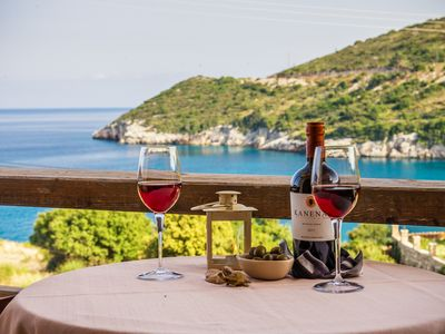 Photo for Apartment at the magnificent beach of Makris Gialos Zakynthos