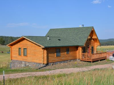 Photo for Log home between Deerfield Lake and Hill City, SD