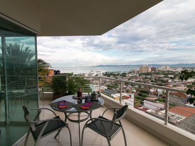 Photo for Beautiful Hillside Condo With Stunning views of Banderas Bay