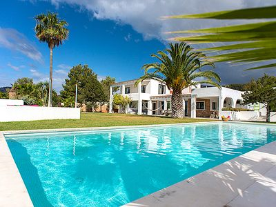 Photo for Fabulous villa completely renovated with taste and style by owners in love with Ibiza for years.