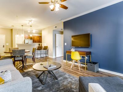Photo for Private 1BR/BA | Gym + Pool | Near Victory Park