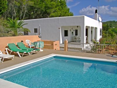 Photo for This 3-bedroom villa for up to 5 guests is located in Sant Carles de Peralta and has a private swimm