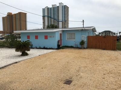 Photo for 3 Bed 1 Bath House, small  Pool, 5 min walk to the beach; across from Schooner