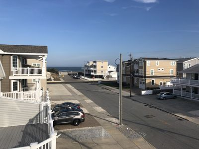 Photo for Beautiful OCEAN VIEW Beach Block Townhouse - only five houses off beach !