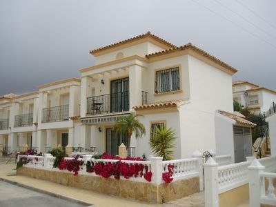 Photo for villa with sea view, communal pool and 50m from sandy beach-lastminute AUG/SEP