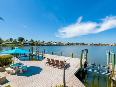 Photo for SW Cape Coral | Gulf Access | Located on the Eight Lakes, huge boat dock, pool table & much more!