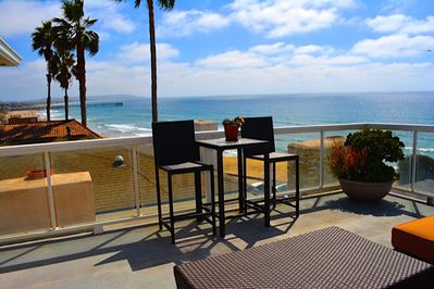 Miles of unobstructed ocean and coastline views from the private deck.