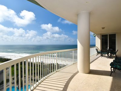Photo for Coastal beachfront penthouse w/private garage & balcony!
