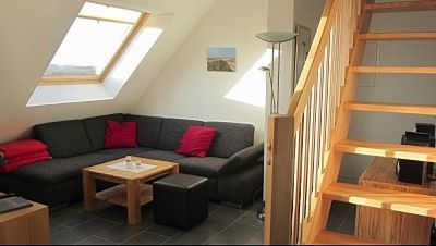 Photo for Cosy top floor apartment with sea views from all rooms, Internet