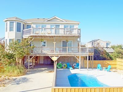 Photo for OCEANSIDE WITH PRIVATE SALTWATER POOL HOT TUB AND JUST 350 YARDS TO THE BEACH