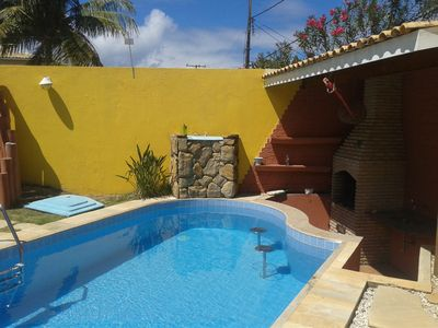 Photo for Beautiful beach house with pool and wet bar, a 250m sea barbecue