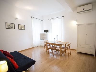 Photo for Pleasant and quiet apartment situated on Via dei Cappellari, in the heart of historic center.