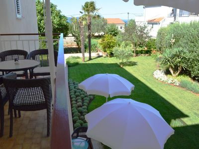 Photo for One bedroom apartment with balcony and sea view Zadar - Diklo, Zadar (A-5856-c)