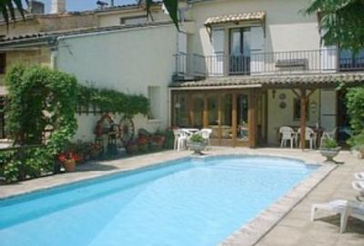 Photo for Dordogne, near St Emilion-beautifully restored 18c village house+heated pool.