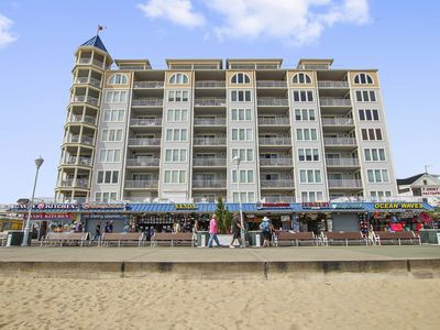 Photo for Large Great Condo on the Boardwalk and Beach down town Belmont Towers