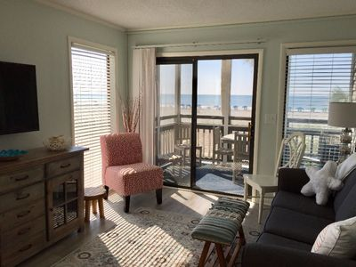 Photo for BEAUTIFULLY UPDATED BEACHFRONT CORNER UNIT - 3BR 2.5BA, SUMMER WEEKS AVAILABLE!