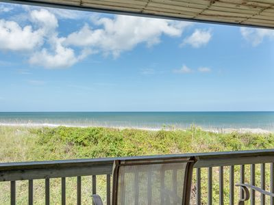 Photo for Steps from the beach: 3 bedroom townhome, oceanfront community pool.
