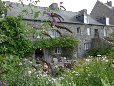 Photo for Beautiful stone farmhouse in quiet location near Dinan and the coast