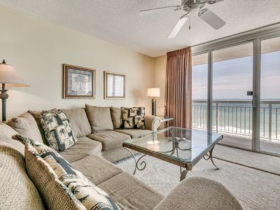 Photo for Crescent Shores 1104, 2 Bedroom Beachfront Condo, Hot Tub and Free Wi-Fi!