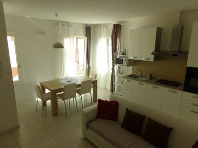 Photo for Apartment in the center of Rimini, near the canal harbor, near the sea.