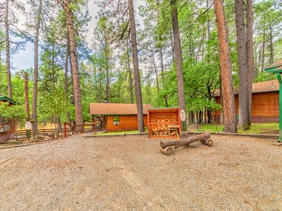"""Photo for """"Canoe"""" Cabin for 2 just minutes from Grindstone Lake in beautiful Ruidoso!"""