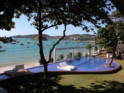 Photo for Buz005 - Beautiful mansion in front of the sea in Búzios