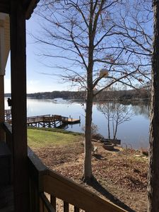 Photo for Cute family lakehouse on High Rock lake with beach and beautiful view!
