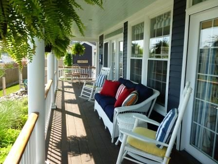 Porch over looking  The Port  Keeping Room Dining AreaRenovated Maine Captain s Colonial    HomeAway Kennebunk. Porch Dining Room Kennebunkport. Home Design Ideas