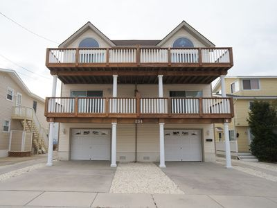 Photo for Bay views from the decks!  This charming townhouse is in a nice quiet part of Sea Isle.