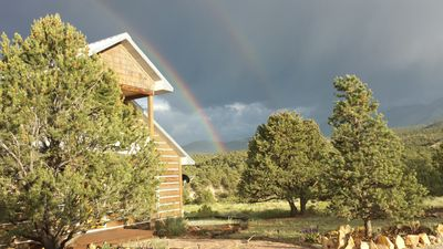 Rainbows frequently grace High Country Heaven. Come find your pot of gold!