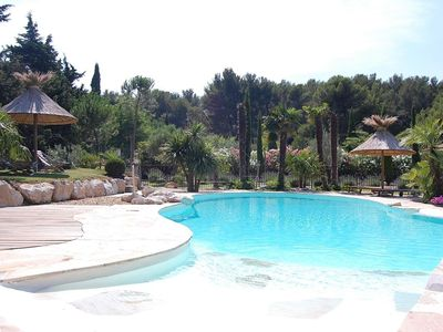 Photo for Provencal villa with pool beautiful pine forest environmental services