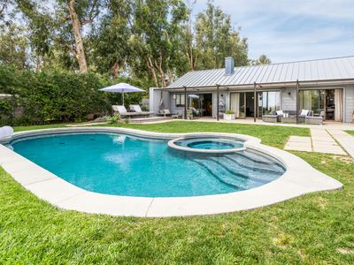Privacy, Lush Garden Setting with Pool, steps to Private Paradise Cove beach.