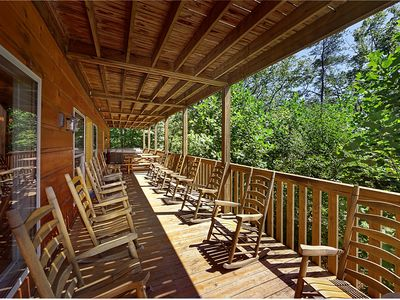 Photo for 7 Bedroom Cabin - Sleeps 34 - Mountain View